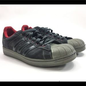 Adidas Gray Red Shell Toe G47197 Shoes P76